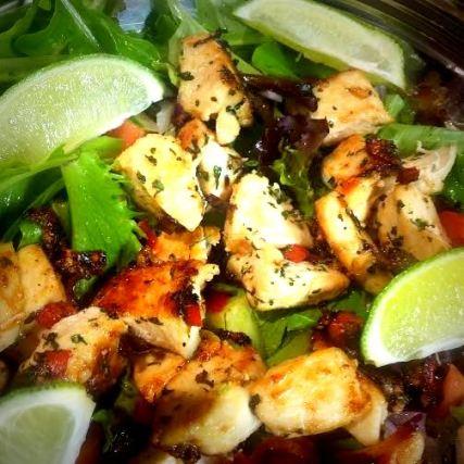 chicken salad salsa upclose