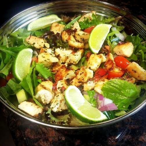 chicken salsa salad bowl
