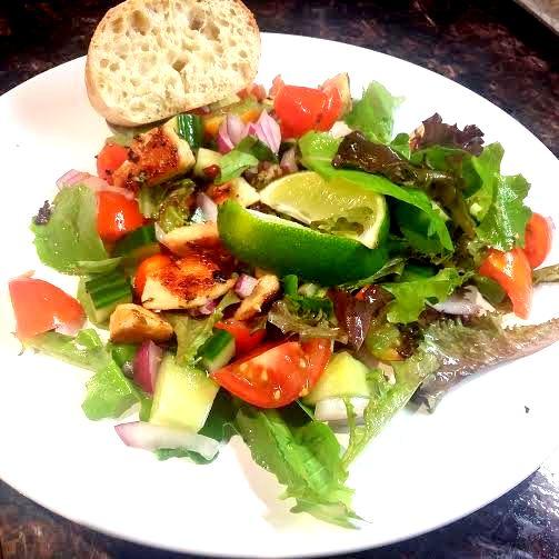 chicken salsa salad